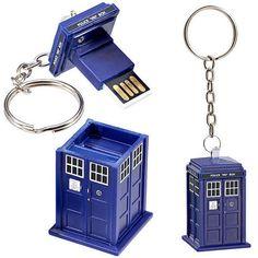 Chaveiro Pendrive Tardis - Doctor Who - 8 Gb Usb