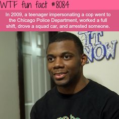 Teenager impersonated a cop and drove a police car - WTF fun facts