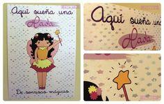 "Lámina infantil ""Aquí sueña una HADA"" / Designed by Nhani"