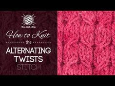 How to Knit the Alternating Twist Cable Stitch