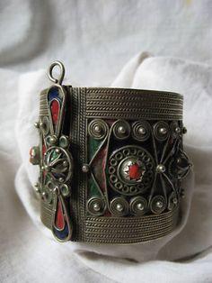 ❧north African Berber Arab Colorful Cloisonné Bracelet | eBay