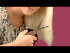 How to cut your own hair and trim split ends at home by Lilith Moon  In this video I will show you an easy technique to cut your own hair and trim your split ends at home. This technique works best on medium long hair and it will save you both money and h...