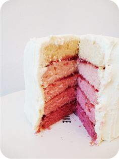 Pink ombre cake, making this for Vliers 5th birthday with a My Little Pony on top!