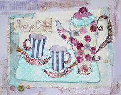 Priscilla Jones - Morning Coffee Embroidered Canvas