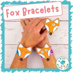 Make adorable Paper Fox Bracelets! This is such a fun and easy fox craft. The printable fox template comes in B/W and 5 colour variations. It's such a cute autumn craft for kids and goes really well with forest animal or nocturnal study themes. #kidscraftroom #kidscrafts #fox #foxcrafts #autumncrafts #fallcrafts #papercrafts #printablecrafts #forestanimals Autumn Crafts, Fall Crafts For Kids, Toddler Preschool, Preschool Crafts, Fox Crafts, Color Crafts, Cute Fox, Printable Crafts, Forest Animals