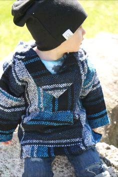 Kids Baja Hoodie- Turquoise