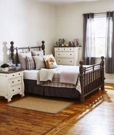 2015 exhibitor - Canadian Furniture Show: Ruff Sawn - Bellows night stand and Stone Cottage queen bed Country Cupboard, Bed Cushions, Spa Rooms, House Quilts, Solid Wood Furniture, Quilt Sets, Cool Rooms, Queen Beds, Bedding Collections