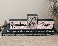 grandparents christmas gift idea personalised by timelessnotion