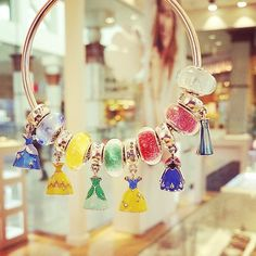 Disney Princess #Pandora charms! Get your favorite or have one bracelet for all of them!!