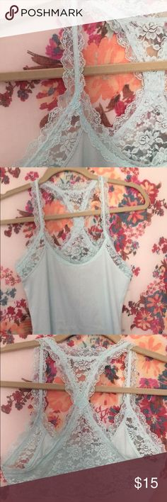 Tank top This tank top is so comfortable and cute lace details on the top ! Abercrombie & Fitch Tops Tank Tops