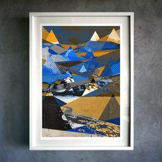 abstract mountain. fine art giclée print by muro buro | notonthehighstreet.com