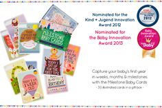 Baby milestone cards - the modern baby book - photograph your baby with each card and compile into a book