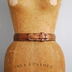 70's Studded Honey Leather Belt
