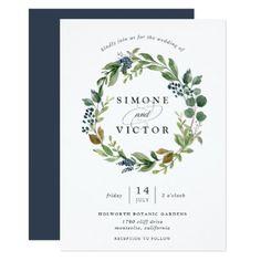 Eucalyptus Grove Wreath Wedding Invitation - elegant wedding gifts diy accessories ideas