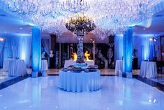 To highlight its upcoming movie Northpole, the Hallmark Channel created Christmas in July at a private residence in Beverly Hills. The event, produced by Along Came Mary Events, featured a dessert buffet table beneath dozens of sparkling crystal chandeliers in the grand ballroom.  Photo: Sean Twomey/2me Studios