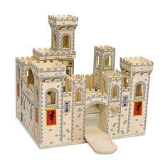 Boys Medieval Wooden Toy Castle - Boys Toys