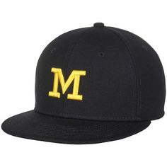 huge selection of 77beb dfd6e Men s Jordan Brand Navy Michigan Wolverines Head Coach s Wool Fitted Hat