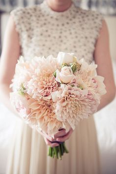 blush Dahlia Wedding Bouquet
