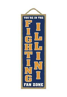 Illinois Fighting Illini Fan Zone Wood Sign (backorder)