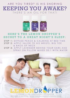 Finally get a good nights rest naturally - Young living essential oils - lavender, valor to help sleep.