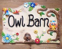 House Sign Ceramic - Whimsical Animals