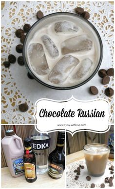 The Chocolate Russian is a chocolaty twist on the traditional White Russian. Super easy and super yummy!