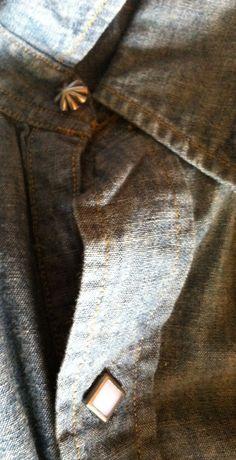 Details of denim RRL shirt.