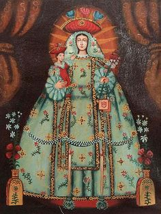 'Our Lady of Mercy' (15 inches) - Catholic Replica Cuzco Oil Painting  (15…