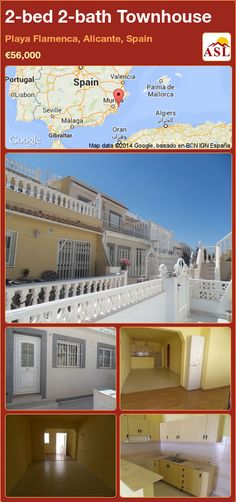 2-bed 2-bath Townhouse in Playa Flamenca, Alicante, Spain ►€56,000 #PropertyForSaleInSpain