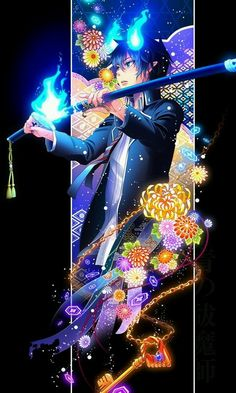 Ao no Exorcist❤ Rin Okumura M Anime, Fanarts Anime, Anime Guys, Anime Characters, Anime Art, Anime Demon, Ao No Exorcist, Blue Exorcist Anime, Rin Okumura