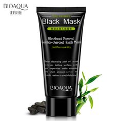 BIOAOUA Black Removal Bamboo Charcoal Black Mask Deep Cleaning Blackheads Nose Face treatment Black Heads Mask Cream Treatment  #Affiliate