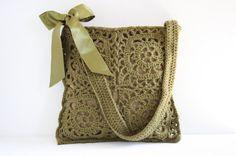 Crochet shoulderbag