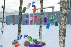 """Coloured ice decorations from Granstubben Barnehage ("""",)"""