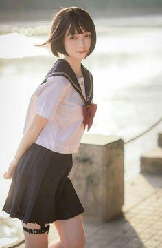 Japanese schoolgirl , serafuku