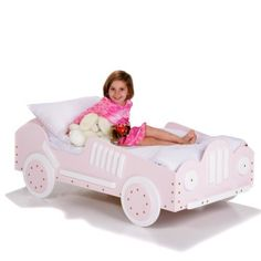Pink Race Car Toddler Bed