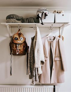 DOUBLE YOUR SHELF SPACE Make your shelves work harder for you by using the space below them, too. Simply add hooks underneath for double the storage.