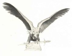 Turul Hungarian Tattoo, Hungary History, Angel Art, Dark Fashion, Wood Carving, Mythology, Medieval, Bird, Tattoos