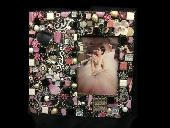 Shimmer... Pretty Little Things pink and black floral whimsical mixed media theme frame