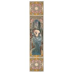 Need Art Deco tiles for your fireplace? Then check out the Alphonse Mucha Nocturnal Slumber Decorated Tile Set, faithfully recreated from Mucha's portraits.