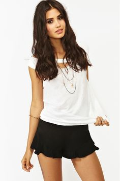 Flutter Shorts in Black