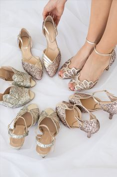 Rachel Simpson Glitter Shoes Winter Wedding Shoes, Rachel Simpson, Designer Wedding Shoes, Occasion Shoes, Fall Winter, Autumn, Glitter Wedding, Glitter Shoes, Wedding Looks