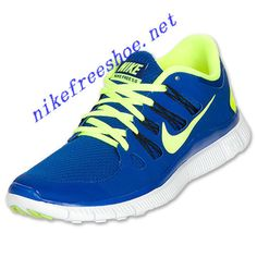 e5e40d74c65e Nike Free 5.0 Mens Hyper Blue Black Blue Tint Volt 579959 470