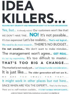 Gründe warum Kreativität und Innovationen in einem Unternehmen nicht erfolgreich sind