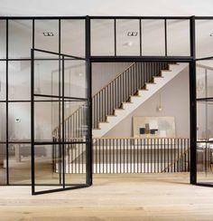 Industrial, spacious entryway