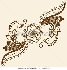 stock vector : Vector abstract floral elements in indian mehndi style. Abstract floral vector illustration. Design element.