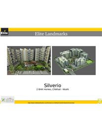 Elite Silverio offers premium 2BHK apartments in Chakan, in the green environment of Chikhali. For More Info Visit: http://www.elitelandmarks.com/homes-in-chikhali-moshi/silverio#!overview