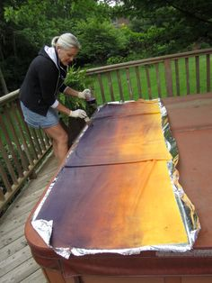 Painting wool with dye - Pamela Brown Welch