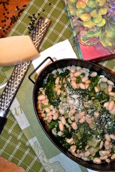 Greens & Beans! Escarole with White Northern Beans ciaochowbambina.com