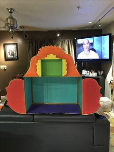Altar structure made of cardboard for Diá de los Muertos!