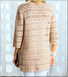 52 Wonderful and Cool Crochet Cardigan Pattern Ideas - Page 10 of 52 - Beauty Crochet Patterns! Crochet Cardigan Pattern, Crochet Jacket, Crochet Blouse, Crochet Shawl, Knit Cardigan, Crochet Stitches, Knit Crochet, Popular Outfits, Outfits For Teens